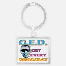 GED 02 copy Landscape Keychain