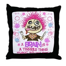 Hungry Zombie copy Throw Pillow