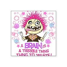 "Hungry Zombie copy Square Sticker 3"" x 3"""