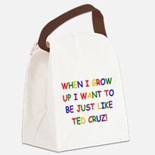 Ted Cruz when i grow up Canvas Lunch Bag