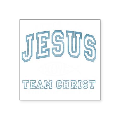 "Jesus Square Sticker 3"" x 3"""