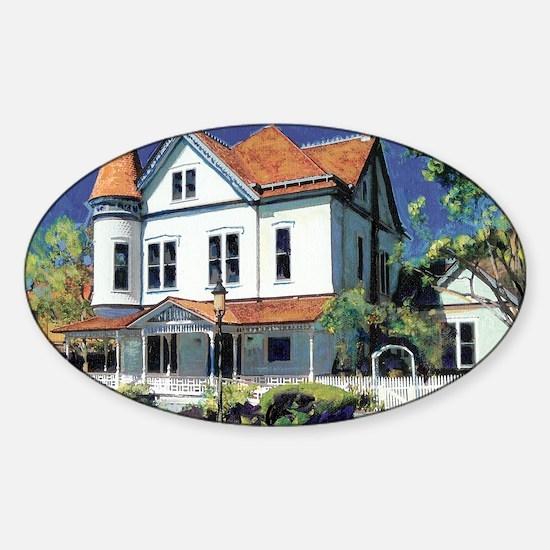 Christian House by RD Riccoboni Sticker (Oval)