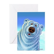 polarbear_poster Greeting Card