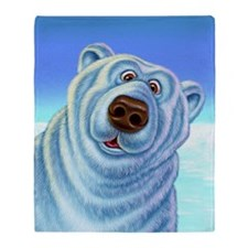 polarbear_poster Throw Blanket