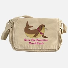 monk seal Messenger Bag