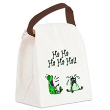 frogs laugh Canvas Lunch Bag