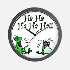 frogs laugh Wall Clock