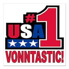 """vonntastic Square Car Magnet 3"""" x 3"""""""