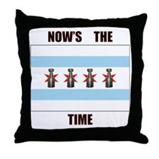 chi flag w_cup final.gif Throw Pillow