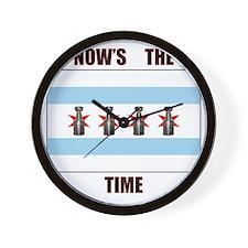 chi flag w_cup final.gif Wall Clock