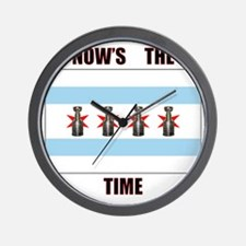 chi flag w_cup final.gif Wall Clock