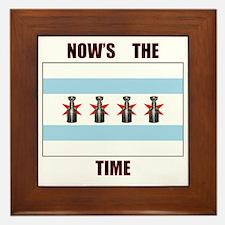 chi flag w_cup final.gif Framed Tile