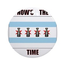 chi flag w_cup final.gif Round Ornament