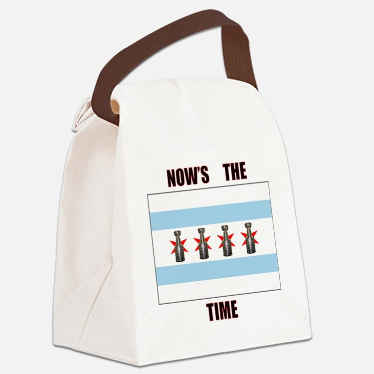chi flag w_cup final.gif Canvas Lunch Bag