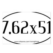 7.62x51 oval sticker PATH Postcards (Package of 8)