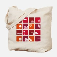 Retro Interior Tote Bag