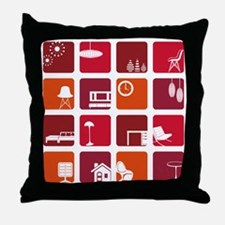 Retro Interior Throw Pillow