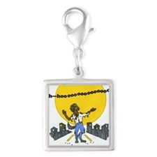 werewolves of hometown Silver Square Charm