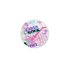 Girls Rock Mini Button