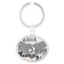 meant-to-be-alone-forlights Oval Keychain