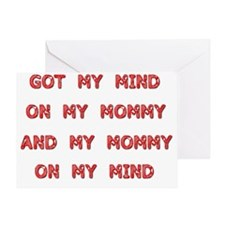 mind on my mommy Greeting Card