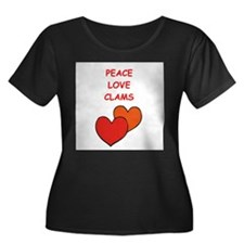CLAMS Plus Size T-Shirt