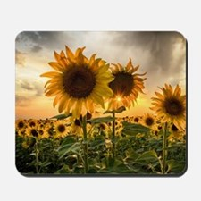 Sunflower Starburst Mousepad