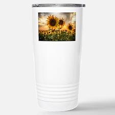 Sunflower Starburst Travel Mug