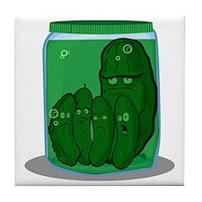 pickle_tee3 Tile Coaster
