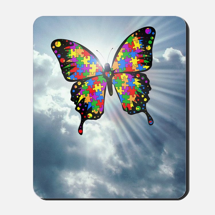 autismbutterfly - sky journal Mousepad