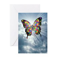 autismbutterfly - sky journal Greeting Card