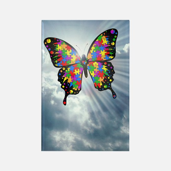 autismbutterfly - sky journal Rectangle Magnet