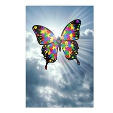 autismbutterfly - sky jou Postcards (Package of 8)