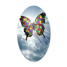 autismbutterfly - sky journal Oval Car Magnet