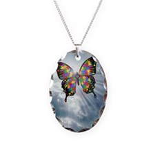autismbutterfly - sky journal Necklace Oval Charm