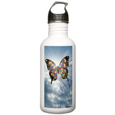 autismbutterfly - sky  Water Bottle