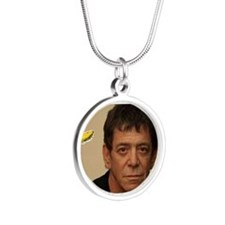 RIP LOU REED Silver Round Necklace