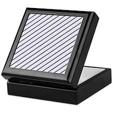 Purple And Blue Diagonal Stripes Keepsake Box