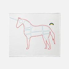 unicorn_cafepress Throw Blanket
