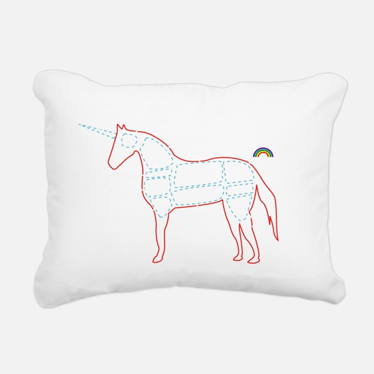 unicorn_cafepress Rectangular Canvas Pillow