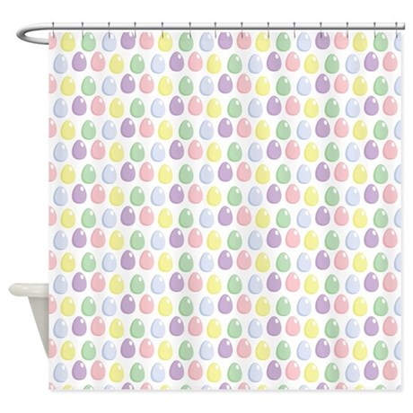 Easter Eggs Shower Curtain By CutePrints