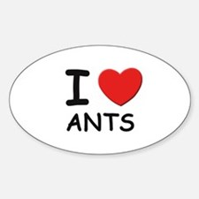 I love ants Oval Decal