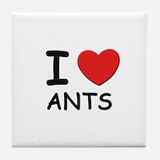 I love ants Tile Coaster