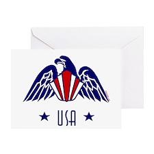 Art Deco USA Generic Eagle-v1 LT Greeting Card