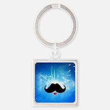 Speak LOVE out loud moustache 4 Keychains