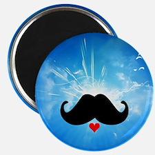 Speak LOVE out loud moustache 4 Magnets