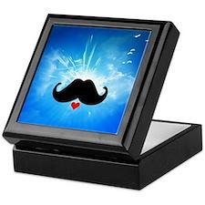 Speak LOVE out loud moustache 4 Keepsake Box