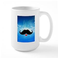 Speak LOVE out loud moustache 2 Mugs