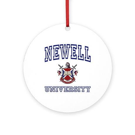 NEWELL University Ornament (Round)