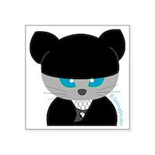"""ninja cat(2)b Square Sticker 3"""" x 3"""""""